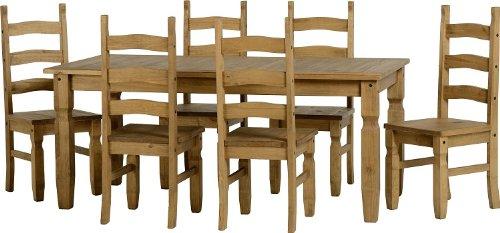 Corona Furniture Corona 6'0' Dining Table & 6 Chairs
