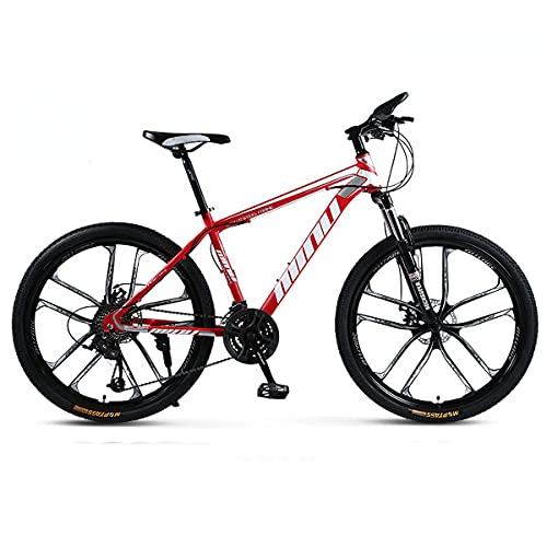 Mountain Bike High Carbon Steel Frame Disc Brake Deceleration Shock Absorber 21/24/27 Speed Youth Men And Women Mountain Bike 24/26 Inch Off-Road