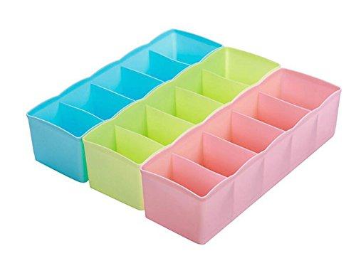 weimay plástico cajón organizadores ropa interior calcetines de almacenamiento bebé ropa Crafts cosméticos Box–Juego de 3