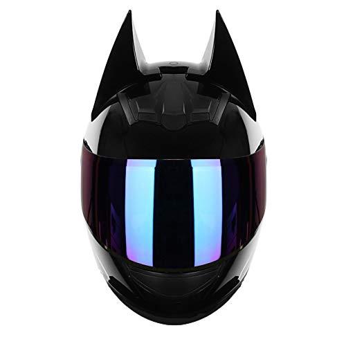 SJAPEX Casco de Moto Integral Homologado con Pantalla Transparente y Visera Parasol Desplegable | Ventilación | Hombre o Mujer,con Orejas Personalizadas,Certificación ECE B,XL=61~62cm