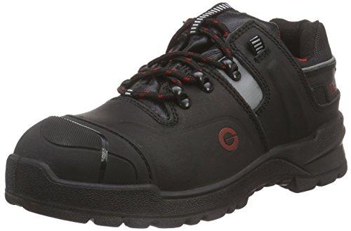 Sanita Basalt_S3 Lace Leather Shoe, Chaussures de sécurité Mixte Adulte, Noir (Black 2), 45 EU