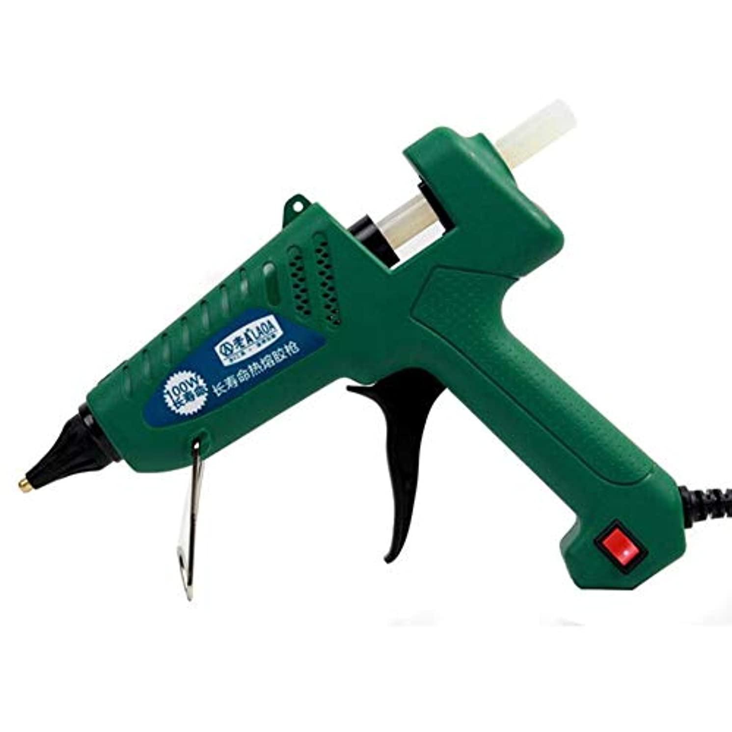 MqbY LA813100 100W Hot Melt Glue Gun For Metal/Wood Working Glue Stick Industrial Guns Thermo Electric Heat Temperature Tool