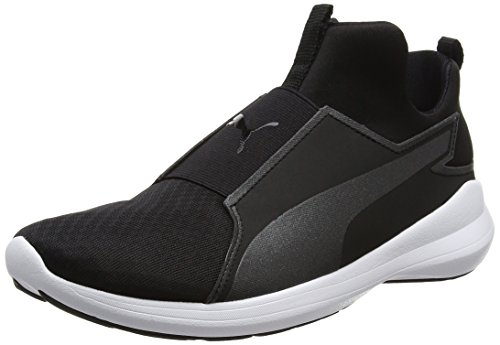 PUMA Rebel Mid Wns, Sneaker a Collo Alto Donna, Nero (Black-Black-White), 40.5 EU