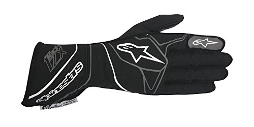 Alpinestars 2017 Tech 1-ZX Glove - Size X-Large - Black/White - SFI 3.3 LEVEL 5/FIA 8856-2000 (3550317-12B-XL)