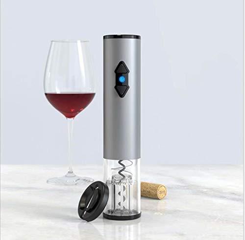 Sacacorchos de vino eléctrico, funciona con pilas, sacacorchos automático con cuchillo de...