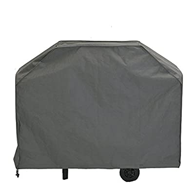 Patio Watcher Grill Cover, Large 64-inch BBQ Cover Waterproof, Heavy Duty Gas Grill Cover Campatible with Weber,Brinkmann,Char Broil,Holland and Jenn Air-Grey
