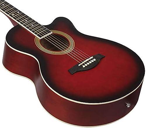 NUYI-2 40 Zoll Akustikgitarre roten Schüler unterrichten 40 Zoll Eckgitarre, um EIN komplettes Set von Zubeh zu senden