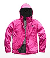 The North Face Women's Pink Ribbon Resolve Jacket - Raspberry Rose & TNF Black - L