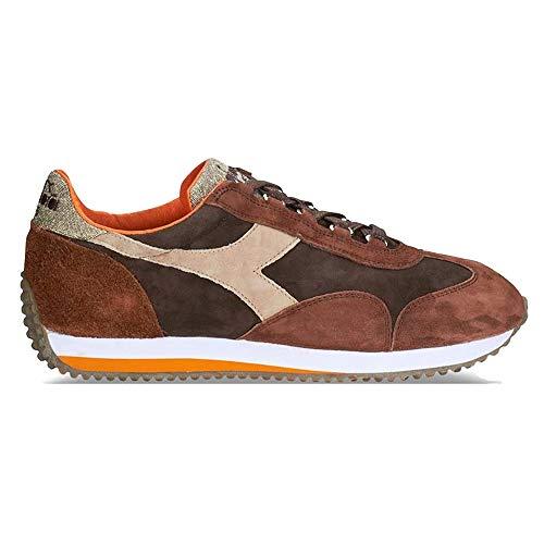 Diadora Heritage, Uomo, Equipe Evo II Brown, Suede, Sneakers, Marrone, 42.5 EU