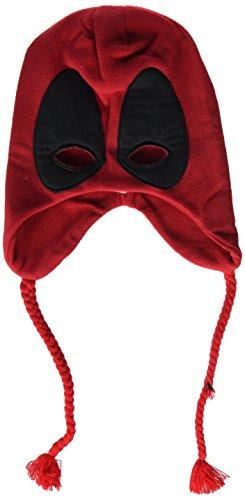 Rubie's Costume Co Men's Deadpool Fleece Hat Costume Accessory, Red, One Size