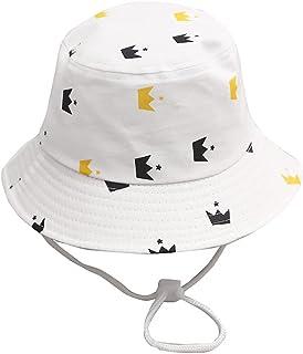 JJSPP Cute Kids Baby Hat Cartoon Summer Children Girl Boy Sun Hat Cotton Bucket Cap Outdoor Beach Cap