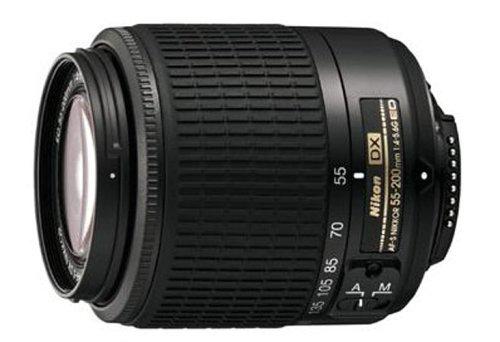 Nikon AF S DX 55-200/4-5.6G ED NIKKOR Objektiv schwarz inkl. HB-34 (52mm Filtergewinde)
