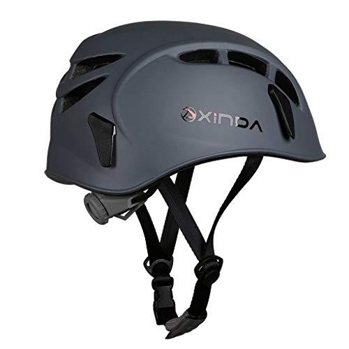 Heemtle Safety Helmet Rock Climbing Tree Caving Kayaking Rappel Rescue Hard Hat 7 Colors Optional (Adjustable:52-62CM)