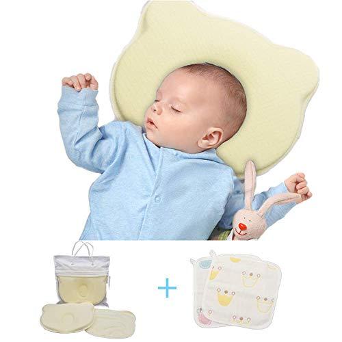 Ogquaton Forma de la corona del beb/é Almohada suave para beb/és Ortop/édico Conformaci/ón de almohadas Espuma de memoria Almohada para dormir Para prevenir la plagiocefalia S/índrome de cabeza plana