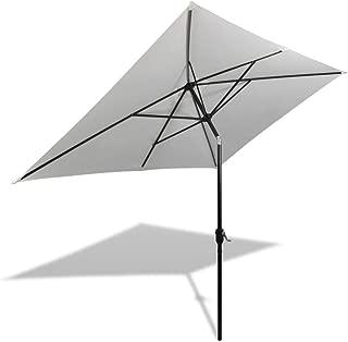 vidaXL Parasol 200x300cm Sand White Rectangular Outdoor Umbrella Sunshade