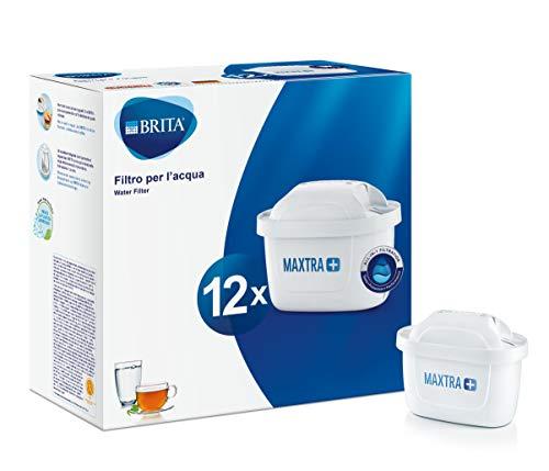 BRITA Filtri MAXTRA+ Pack 12, Cartucce per Caraffe Filtranti, 12 Filtri x 12 Mesi di Acqua Filtrata