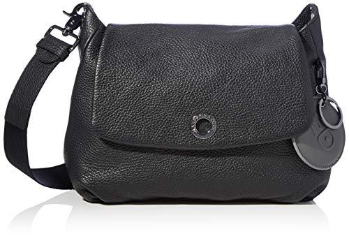 Mandarina Duck Damen Mellow Leather Handtasche, Black, Taglia Unica