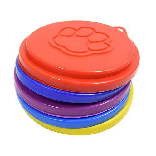 LAAT 2Pet Food Bezüge Hund Katze Kann Dose Bezug Wiederverwendbar Pet Food Speicher Kann Deckel Cover Deckel Top Cap mit Paw Print Pet Dosen–zufällige Farbe