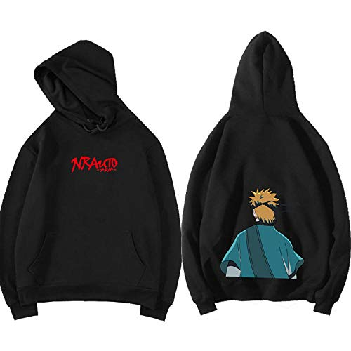 3D Men Hokage Ninjia Naruto Printed Drawstring Hooded Cool Long Sleeve Loose Fit Hoodies Sweatshirt Hoodie AXXS Red