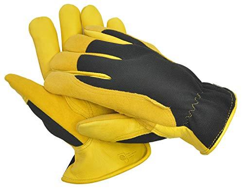 WAGNER Gold Leaf Gloves - Winter Touch - Herren - Gartenhandschuhe der Extraklasse, Hirschleder/Thermo Thinsulate, Ski-Dri-Membran/RHS Auszeichnung - 25304000