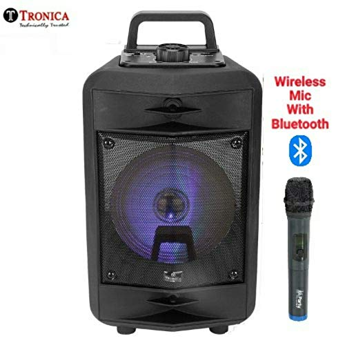 Tronica VIBRA 20W Rechargeable Outdoor Bluetooth Party Speaker with USB/FM/SD Card/Karaoke Speaker...