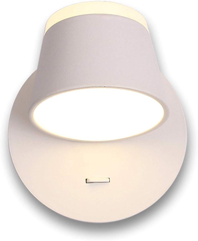 Qian Fei  Wandleuchte, Nordic Minimalist LED Lesewandleuchte mit verstellbarem Winkel und bequemer Beleuchtung für Auf- und Ab-Wandleuchten (Farbe  Wei)