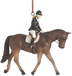English Riding Dressage Resin Christmas Ornament