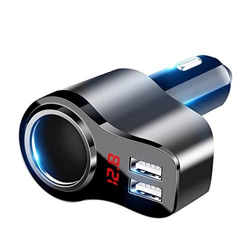 SHUAN QIAO Adaptador de Encendedor de Cigarrillos de 12V Coche 2 vía Doble de Doble Enchufe del Enchufe Splitter