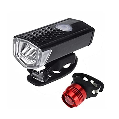 Juego de luces recargables para bicicleta - Reflectores potentes luces delanteras y traseras, accesorios de bicicleta para montar de noche, ciclismo - Faro trasero trasero para niños, bicicletas de ca