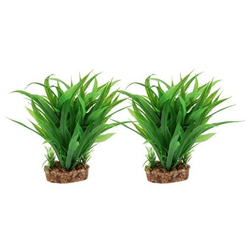 2 Piezas Planta de Terrario Plástico Reptiles Ornamento Decorativo Anfibios