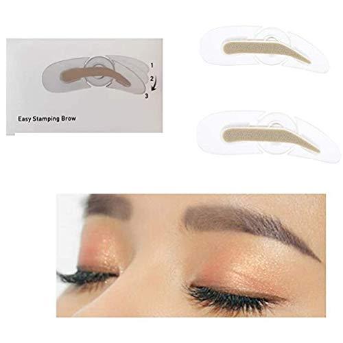 Pochoir à sourcils, pochoir à sourcils professionnel avec poignée 3 forme modèle de sourcil outil de maquillage rapide paresseux pour maquillage débutant