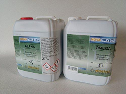 dinotec Nova Crystal chlorfreie Wasserpflege Alpha und Omega, als Set, je 5,0 l (Preis je l / 30,90 EUR)
