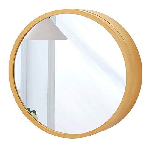 Ronde badkamer spiegel kabinet, badkamer muur opbergkast spiegel medicijnkastje met langzame sluiten houten frame 3 niveau