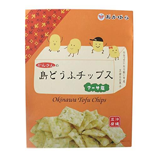 島どうふチップス アーサ塩 20g×8袋入×4箱 あかゆら 沖縄豆腐 とうふがサクッ やみつき食感 ヘルシーなおやつ 豆腐のお菓子