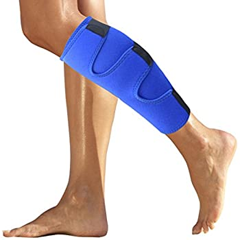 Calf Brace for Torn Calf Muscle - Shin Splint Brace - Lower Leg Neoprene Runners Injury Wrap for Strain Tear Splints for Men and Women - Shin Splint Compression Sleeve - Calf Compression Sleeve