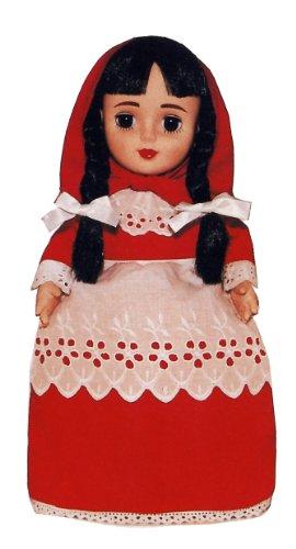 Rotkäppchen-Puppe. Wendepuppe - DREI Puppen in Einer! Mit Schlafaugen. 36 cm. Inkl. Märchenbüchlein (24 S.)