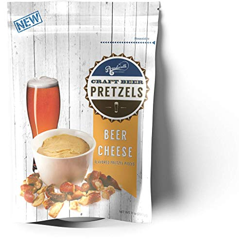 Boardwalk Food Company Cheese Flavored Craft Beer Pretzels | Party Snacks | 8 oz. Bags | 4 Pack