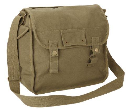 Large Cotton Canvas Side Bag - Beige
