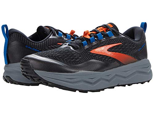 Brooks Caldera 5, Scarpe da Corsa Uomo, Black/Orange/Blue, 46 EU