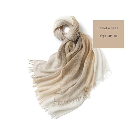 ZSSM camel kleur grote plaid sjaal mode kasjmier sjaal dubbel gebruik pure wol sjaal kasjmier