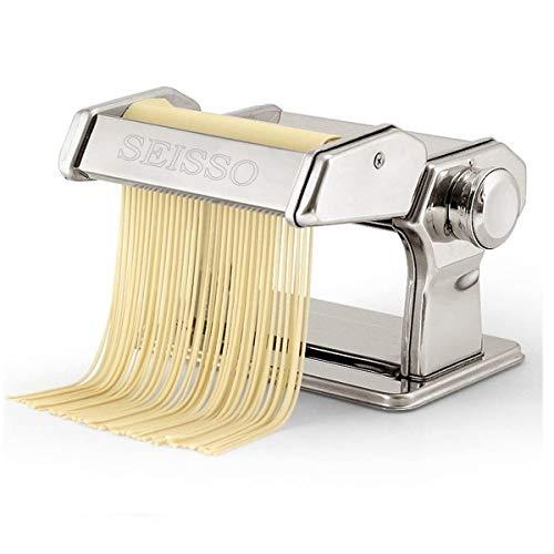 SEISSO水洗える製麺機パスタマシンそば打ち機うどん餃子など分離式厚さ幅調節可能2種類カッター