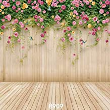 WOLADA 8x8ft Flower Backdrop Wood Backdrops for Photography Photographer Photo Video Background Studio Thin Vinyl Props 8909