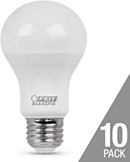 Feit daylight 60 watt replacement 9.5 watts 10 pack 800 lumens