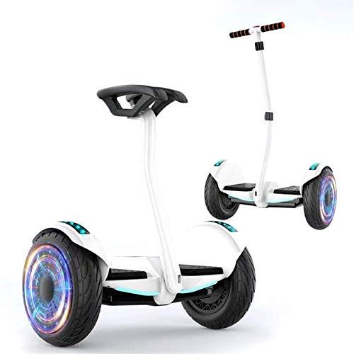 SCYMYBH Auto Equilibrio Hoverboard E Potación de Hoverboard eléctrico para niños y Adultos 10'Scooter de balanceo de Dos Ruedas con Altavoz Bluetooth y Luces LED, 350W Dual-Motor