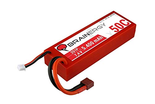 YUKI MODEL LiPo   2s1p   7,4V   5.400mAh   50C   BRAINERGY   kompatibel mit Deans   HC