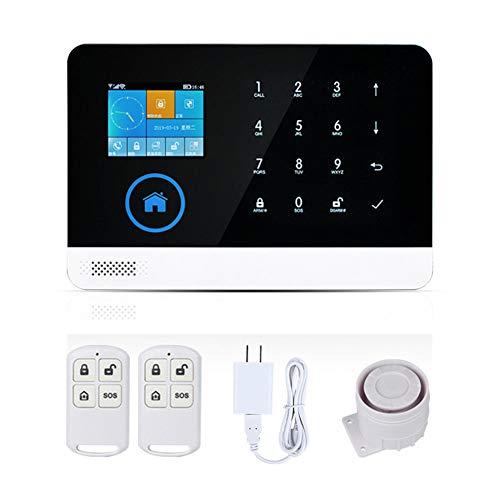 LYHLYH Alarma JC inalámbrica gsm WiFi Sistema de Seguridad, hogar y Negocio RFID Seguridad del ladrón, dial Auto de la Ayuda, Interfaz gráfica de Usuario en Varios Idiomas y Control App Inglés