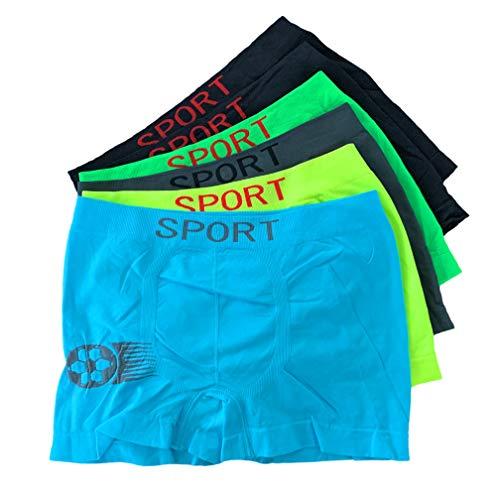 Laake 6 Jungen Boxershorts Unterhosen Kinder Unterwäsche Microfaser Retro Pants Jungenshorts Uomo Sportwäsche Gr 104-164 Design: Fussball (Design: Neon-Fussball-Set1, 128-140)