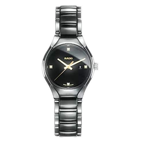 Rado True Damen-Armbanduhr Diamant 30mm Armband Keramik Grau Quarz R27059712