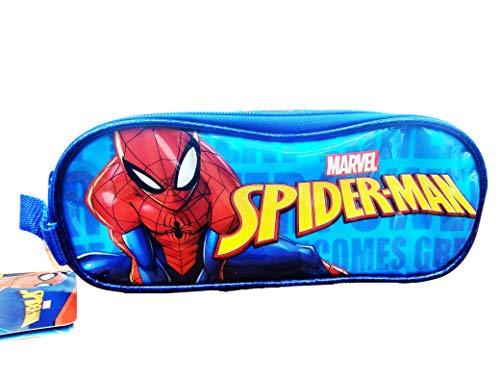 Spiderman Estuche Portatodo Doble, Unisex Adulto, Multicolor, Talla Única