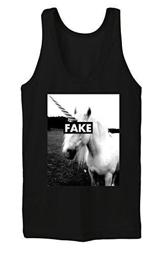 Certified Freak Fake Unicorn Tanktop Girls Black S